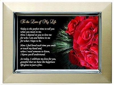 Valentine's Day Gift For Wife, Husband, Girlfriend Or Boyfriend - Love Of My Life Poem - Anniversary Or Birthday Too