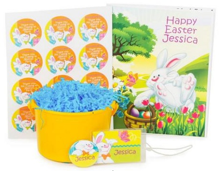 Easter Bunny Personalized Basket