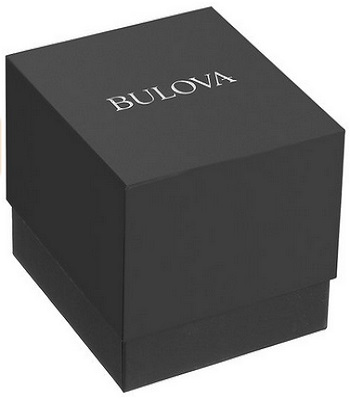 Bulova Men's Quartz Stainless Steel And Black Leather Dress Watch