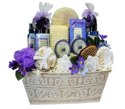 Art Of Appreciation Gift Baskets Lavender Renewal Spa Bath And Body Gift Set