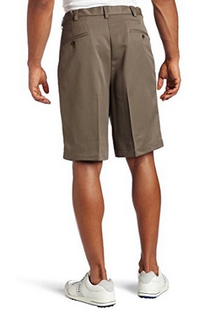 Haggar Men's Cool 18 Hidden Expandable Waist Pleat Front Short