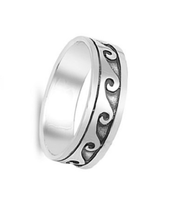 Eternity Wave Surf Fashion Polished Ring