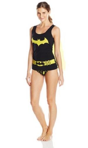 DC Comics Women's Ladies Tank And Panty Set Bat Girl