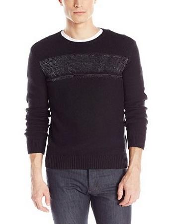 Calvin Klein Men's Cotton Reflective Pullover Sweater