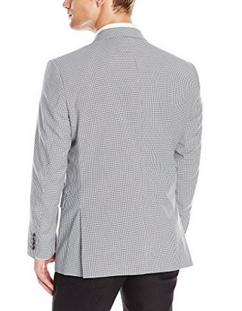 Adolfo Men's Neat Check Modern Fit Sport Coat