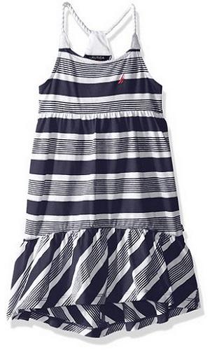 Nautica Girls Maxi Dress With High Low Hem