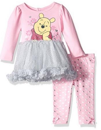 Disney Girls' 2-Piece Winnie The Pooh Tutu Dress And Legging Set