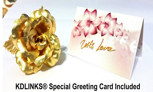 24K 6 Inch Gold Foil Rose Best Valentine's Day Gift Handcrafted