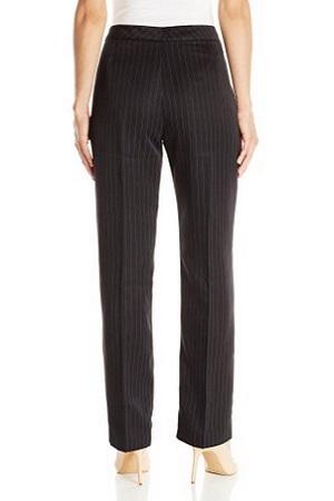 Le Suit Women's 2-Piece Black Pinstripe Suit