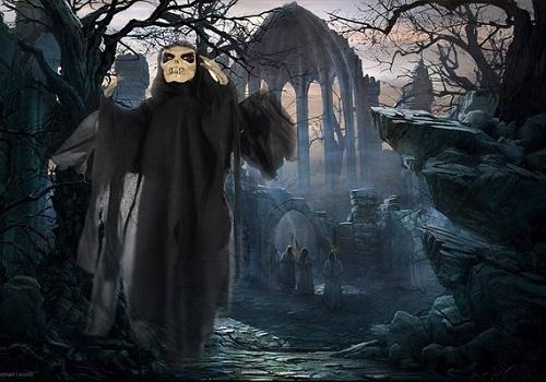 Joyin Skeleton Ghost Halloween Decoration With Blowing Wings