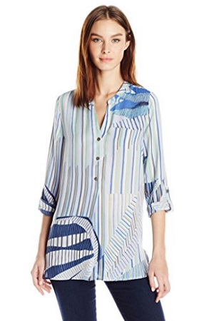 NIC And ZOE Women's Palm Lines Top