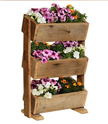 Reclaimed Wood Planter Boxes For Herbs And Flowers