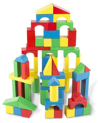 Cubbie Lee Premium Wooden Building Blocks Set