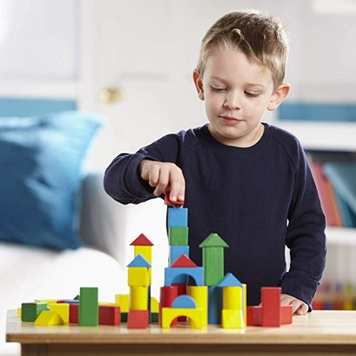 Cubbie Lee Premium Wooden Building Blocks Set