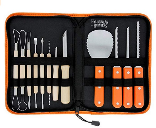 Halloween Haunters Ultimate 12-Piece Professional Pumpkin Carving Tool Kit