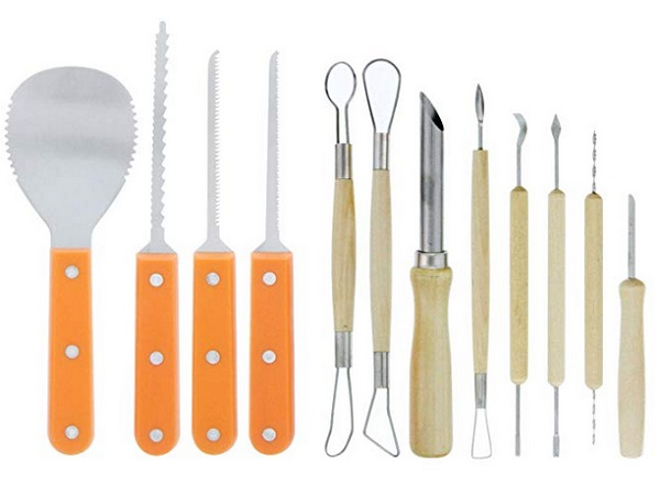 Halloween Haunters Ultimate 12-Piece Professional Pumpkin Carving Tool Kit