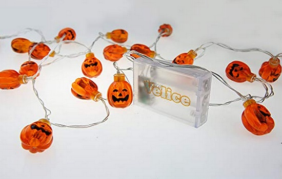 Velice Battery-Operated Led Fairy String LIghts 3D Pumpkin