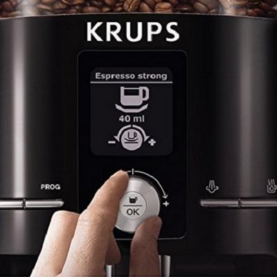 KRUPS Expresseria Super Automatic Espresso Machine With Built-In Conical Burr Grinder