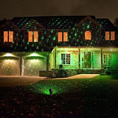 1 ByOne Christmas Laser Lights With Green Christmas Tree And Red Stars